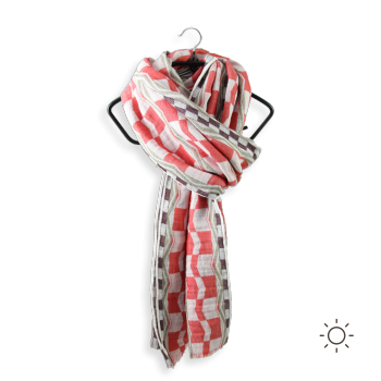 SCARF COTTON MODAL HESTIA RED