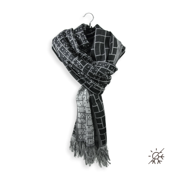 SCARF COTTON MODAL STRATEGY BLACK