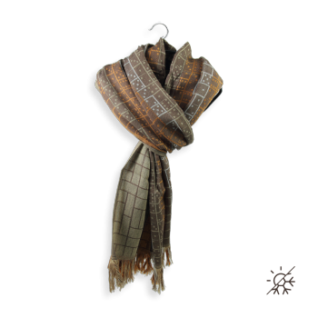 SCARF COTTON MODAL STRATEGY BROWN