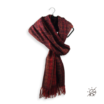 SCARF COTTON MODAL STRATEGY RED