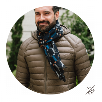 SCARF COTTON MODAL TITANE NAVY BLUE