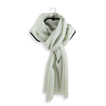 SCARF COTTON SILK ALBATROS ECRU