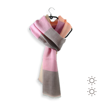 SCARF COTTON SILK SAHARA PINK