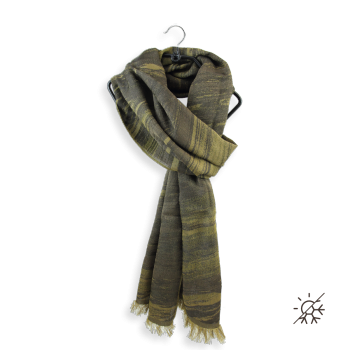 SCARF COTTON SILK SPIRIT GOLD BROWN
