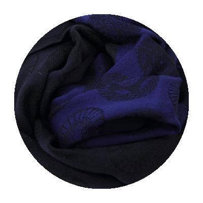 SCARF MERINO WOOL MODAL CHRONO NAVY BLUE