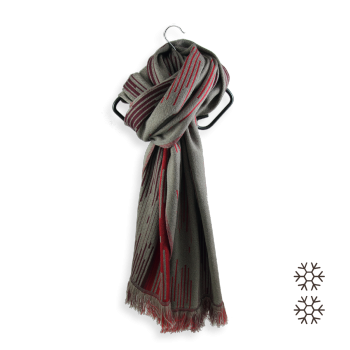 SCARF MERINO WOOL MODAL NEON BROWN RED