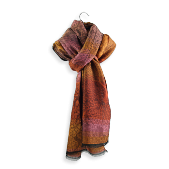 SCARF MERINO WOOL MODAL OLIVIER ORANGE