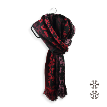 SCARF MERINO WOOL MODAL RUNNING RED