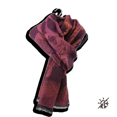 SCARF MODAL COTON WOOL SILK RED RUSTY RENAISSANCE