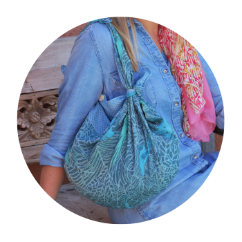 SHIKI BAG CHRISTELLE BLUE AND TURQUOISE