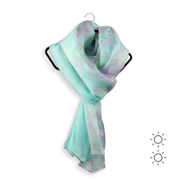 SILK DUO DESIGN GIVRE SKY GREEN AQUA