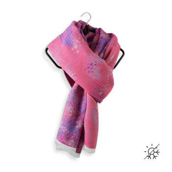STOLE COTTON MODAL SILK PERMA PINK