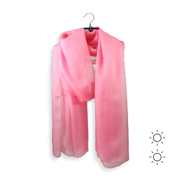 STOLE PLAIN SILK CANDY PINK