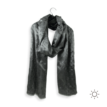MAN SCARF SILK CHARLES GREY
