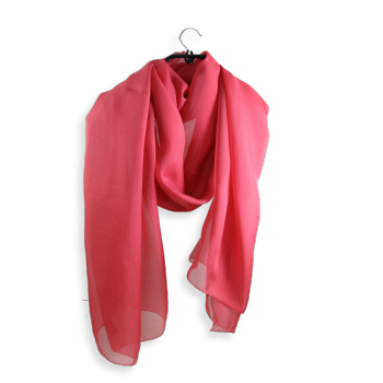 PLAIN SILK STOLE CORAL PINK