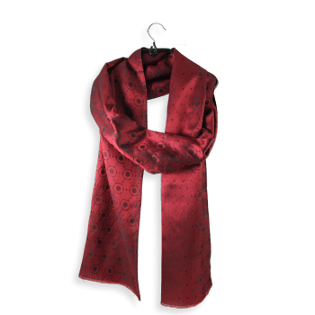 SCARF MAN SILK DENIS RED