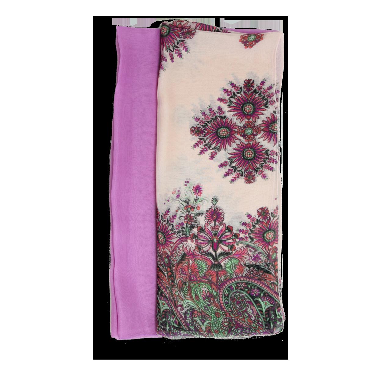 echarpe femme duo en soie echarpe motif cachemire rose fuchsia. Black Bedroom Furniture Sets. Home Design Ideas
