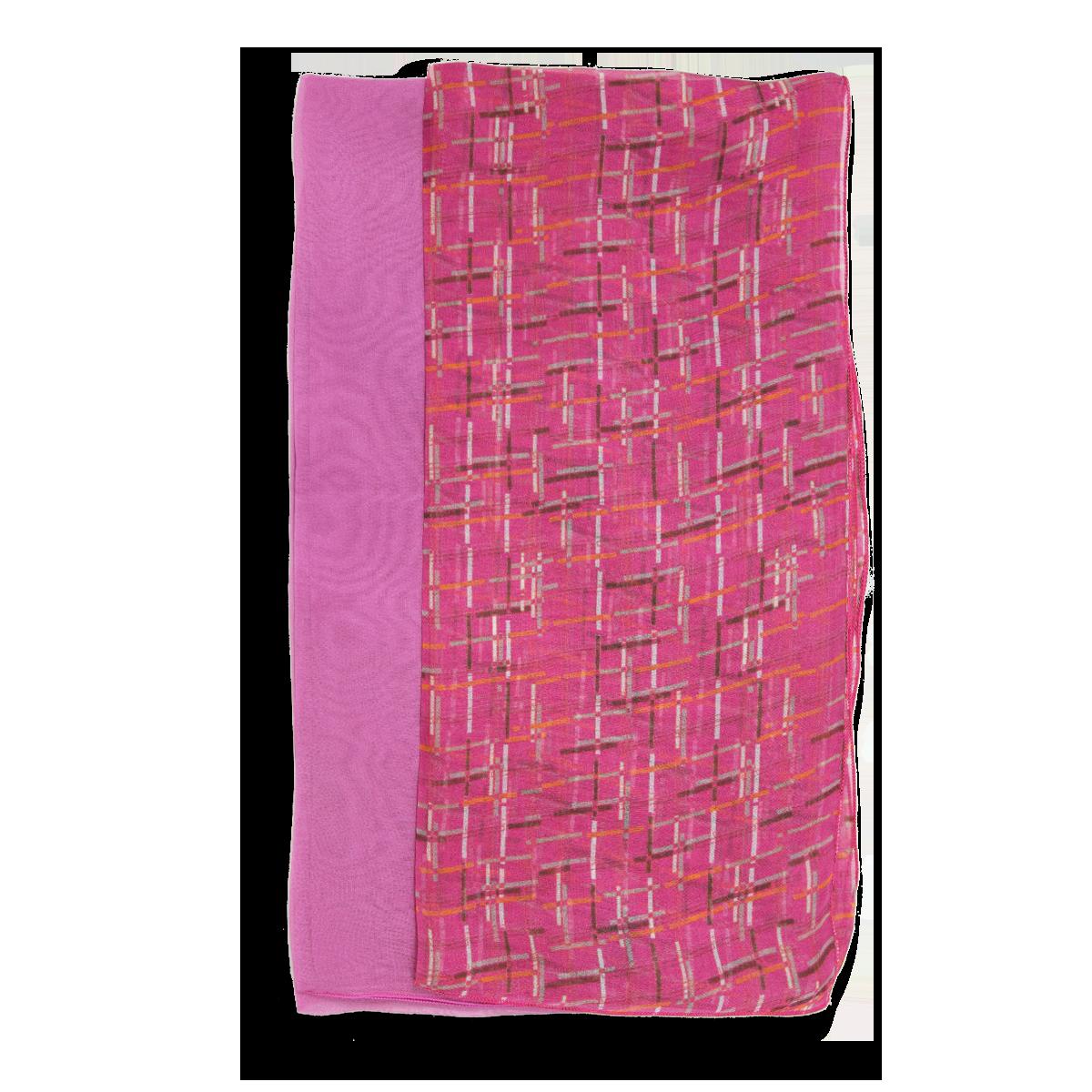 éclatant couleurs délicates nouvelle collection DUO de SOIE MOTIF ECOSSAIS ROSE