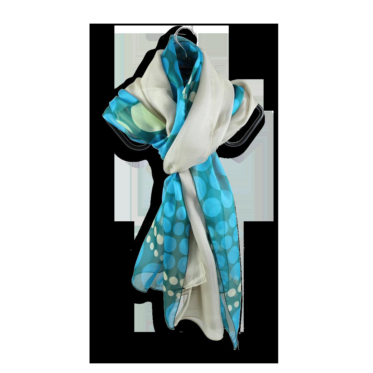 7dbf0c8e64e7 foulard soie imprime pois vert turquoise uni beige fabrique en france ...