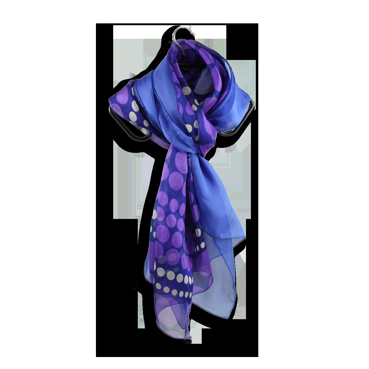 foulard soie imprime pois parme violet uni bleu fabrique en France ... d5bcc7c192eb