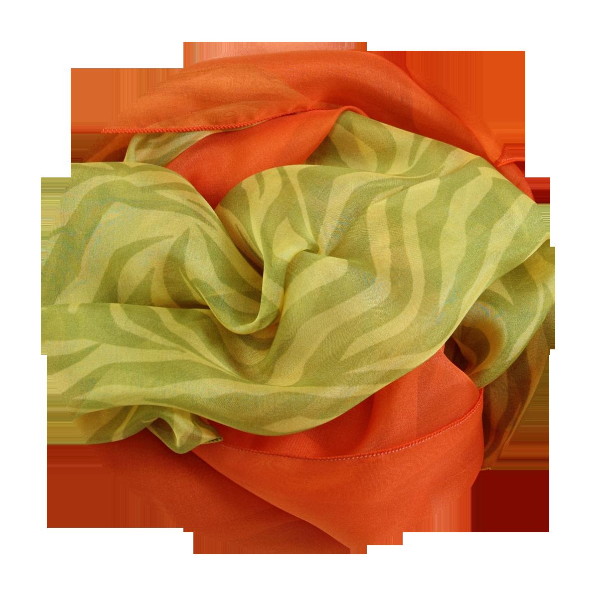 ... foulard soie imprime rayures jaune vert uni orange fabrique en france a13d99df9bdf