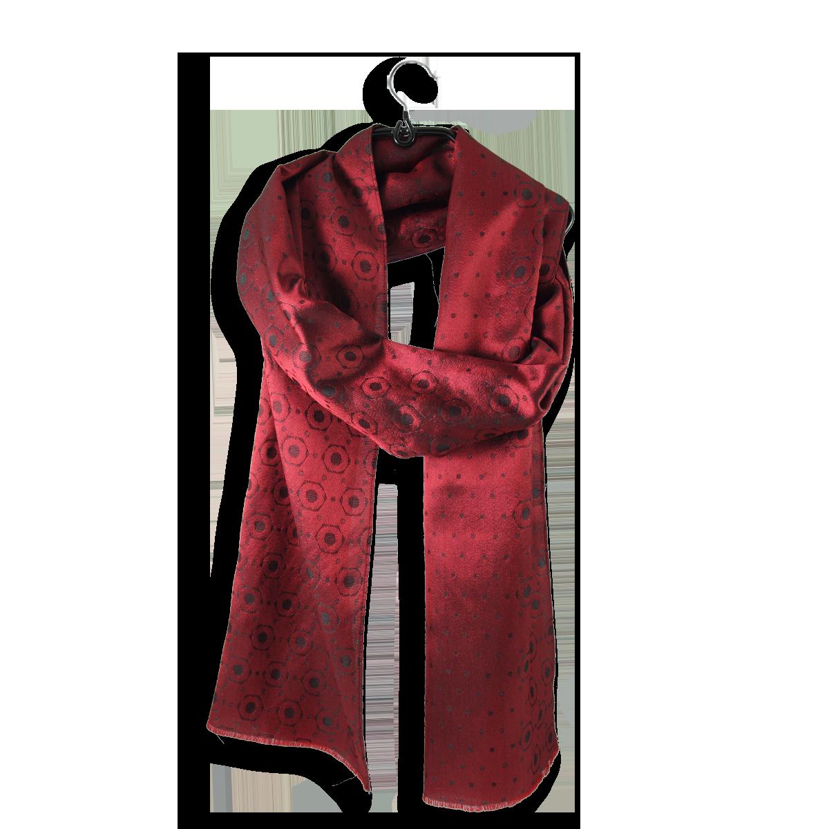 e8f949828094f Luxueuse et traditionnelle écharpe Rouge pour Homme en soie.