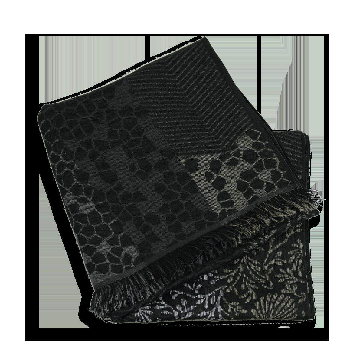 Echarpe Femme Noire et grise en Laine Coton Soie - Très confortable. c039d436927