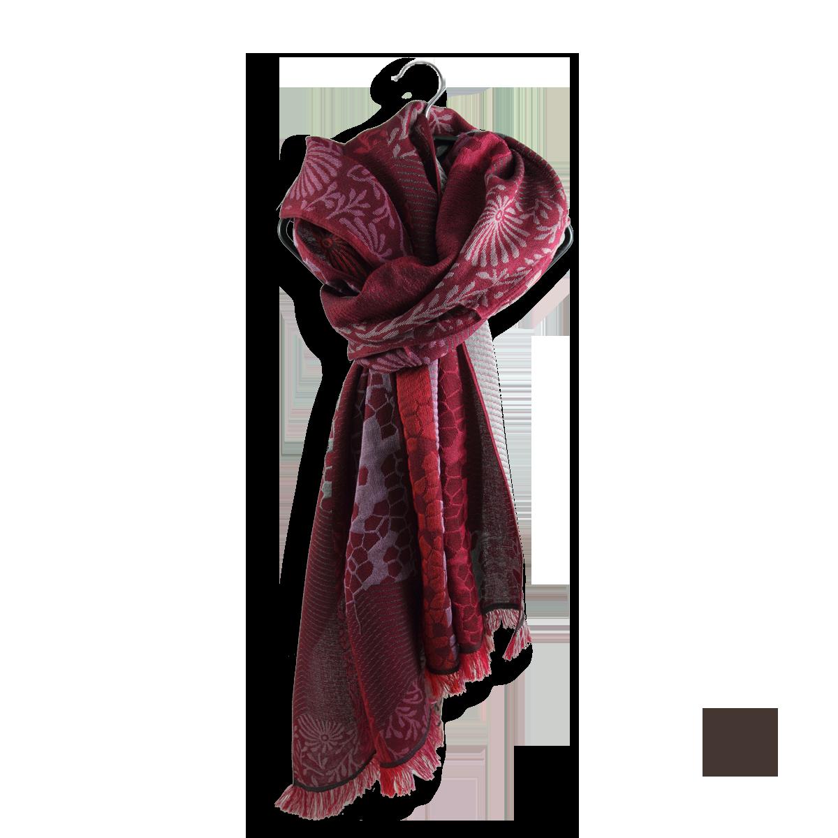 b94918f8750 Echarpe Femme Rouge en Laine Coton Soie - Très confortable.
