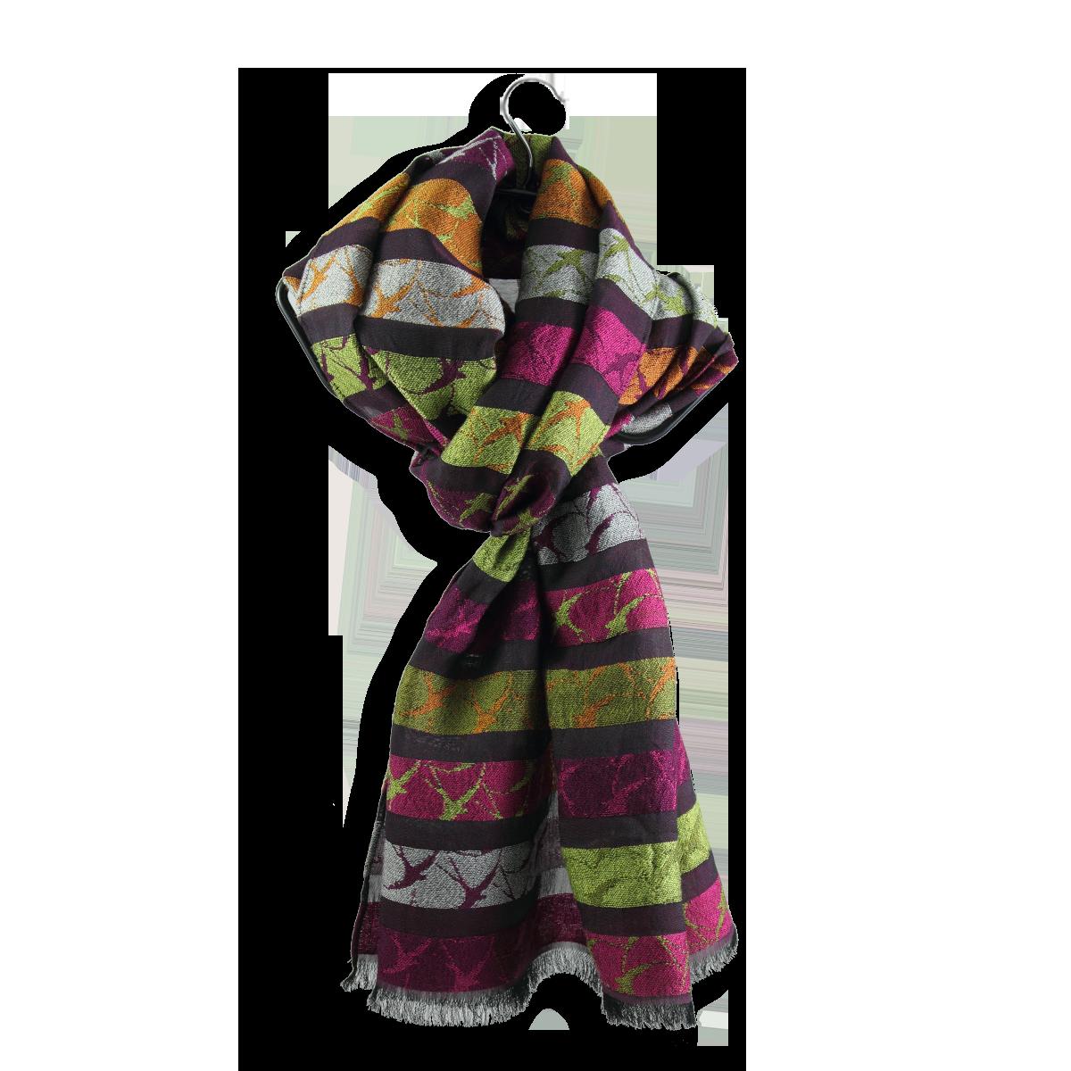 echarpe femme rose fuchsia en laine coton soie motif. Black Bedroom Furniture Sets. Home Design Ideas