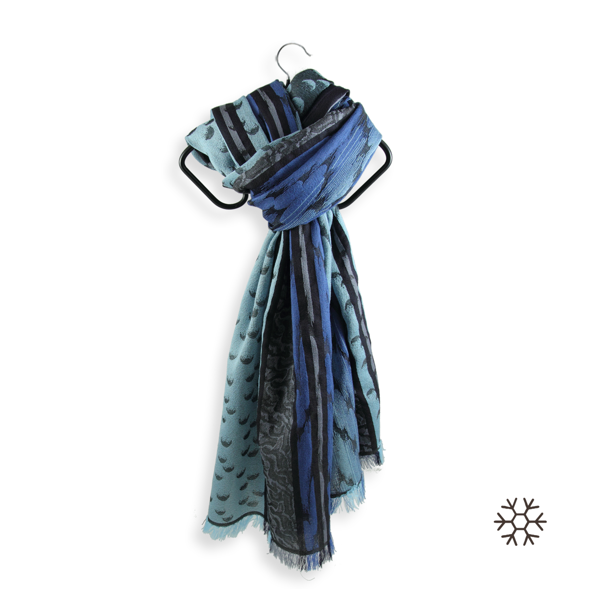 5382f2a3be11 Echarpe homme bleue en Laine mérinos et Soie - Ultra robuste.