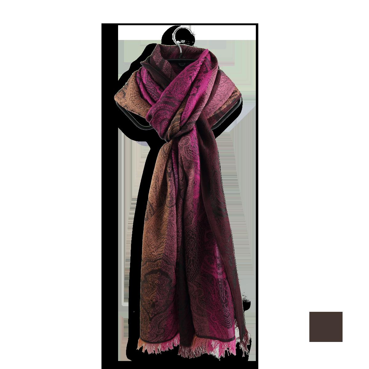 dc5e4d8131360 Echarpe Femme Rose en laine et soie - Très chic et élégante