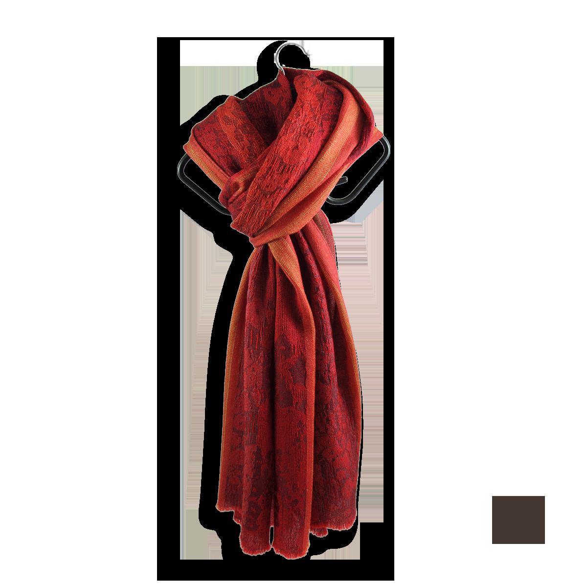 69681ab1c7c Belle écharpe femme Rouge en laine et soie - Ultra douce