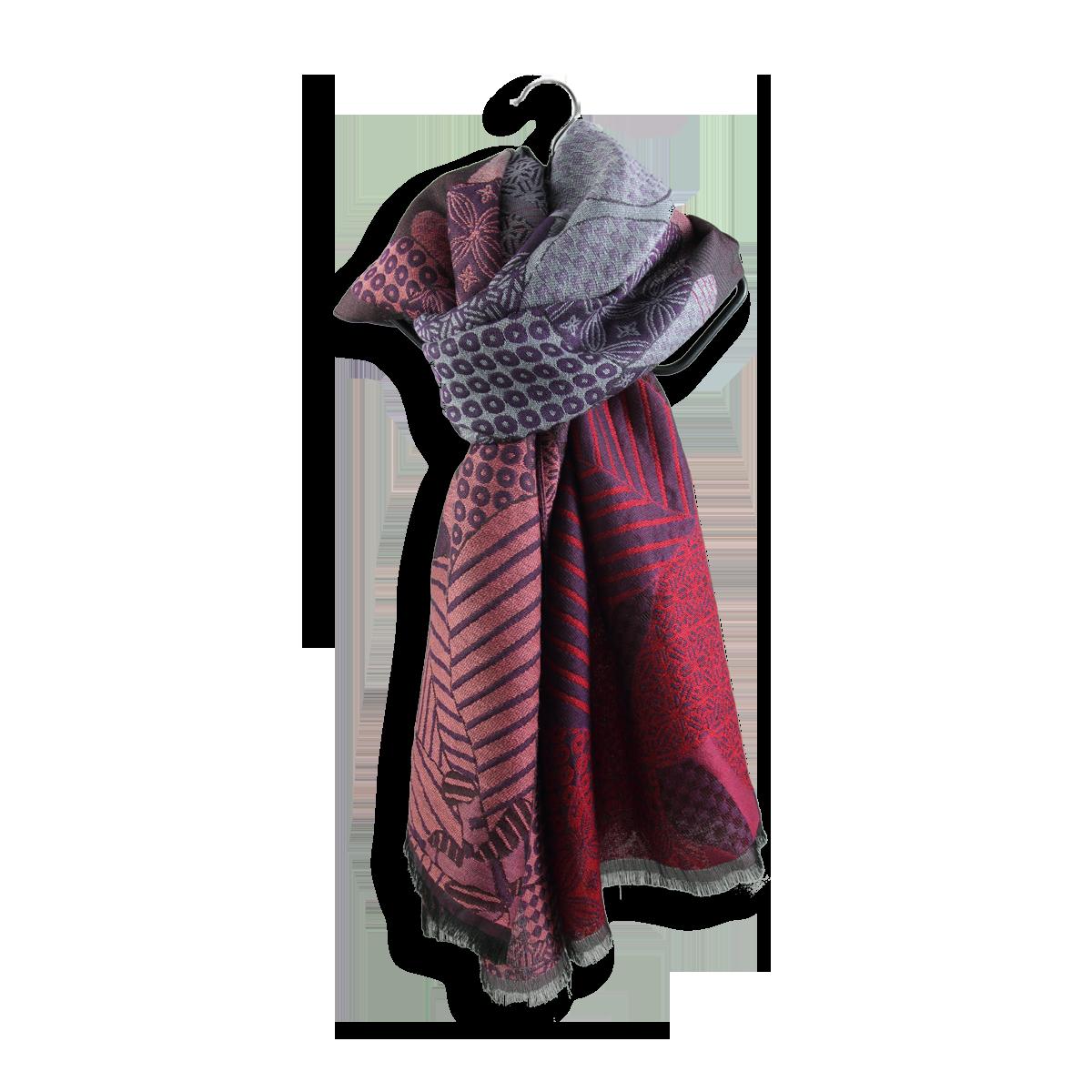 4db22d1c759b Etole Femme Violet, Rose et Rouge en Laine, coton et soie - Très chaude.