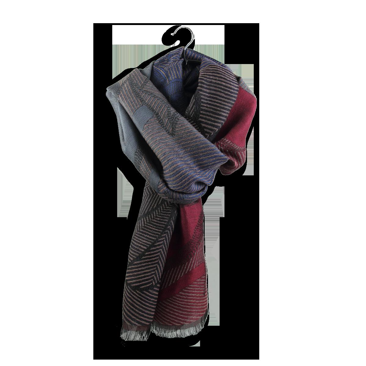 6ed394058aba Etole Femme tissée en laine, coton et soie de couleur rose, bleu ...
