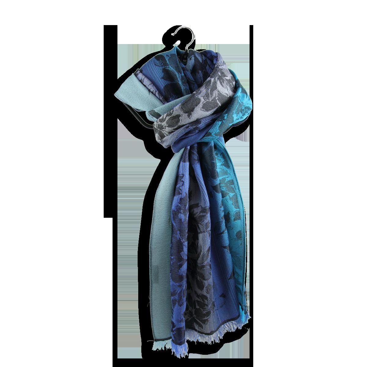 25144e64a0f6 Belle et grande étole pour femme en laine et soie, bleu turquoise ...