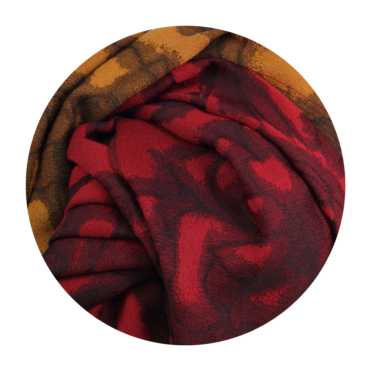4a2a4727201 Grande étole Femme Rouge et Orange en Laine Soie - Très légère