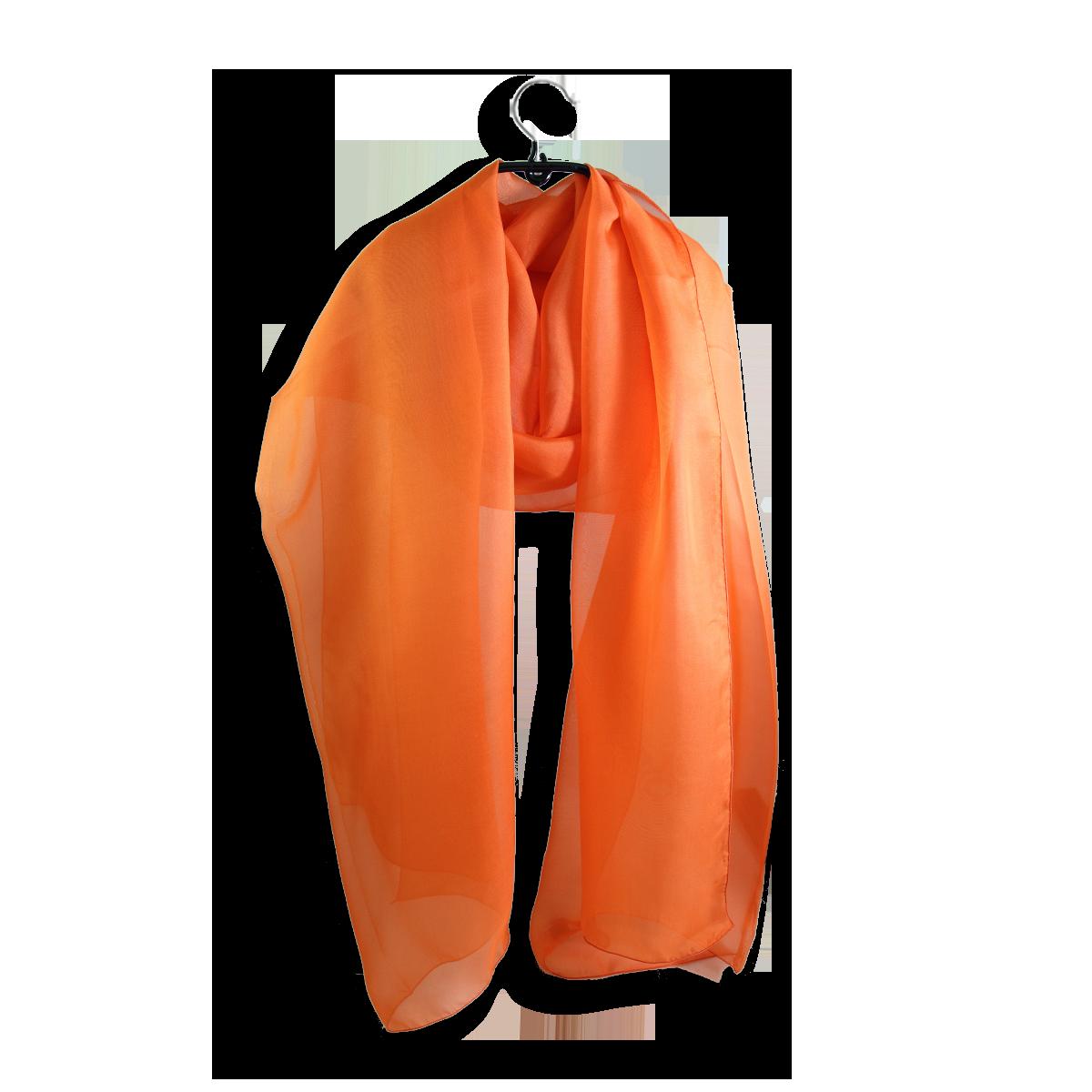 Grande étole de soirée en mousseline Orange uni - Etole femme 40a27fc3124