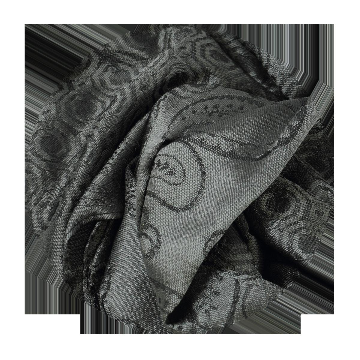 240fe82a46c Echarpe Grise tissée en soie pour Homme - classique et intemporelle
