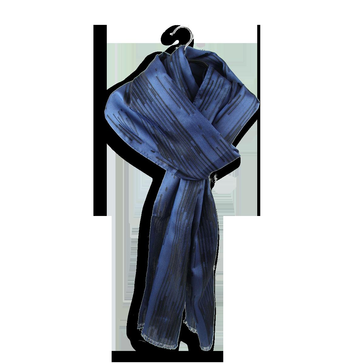 Luxueux foulard Homme en Soie de couleur Bleu - Ultra Chic. 8b6a9210a41