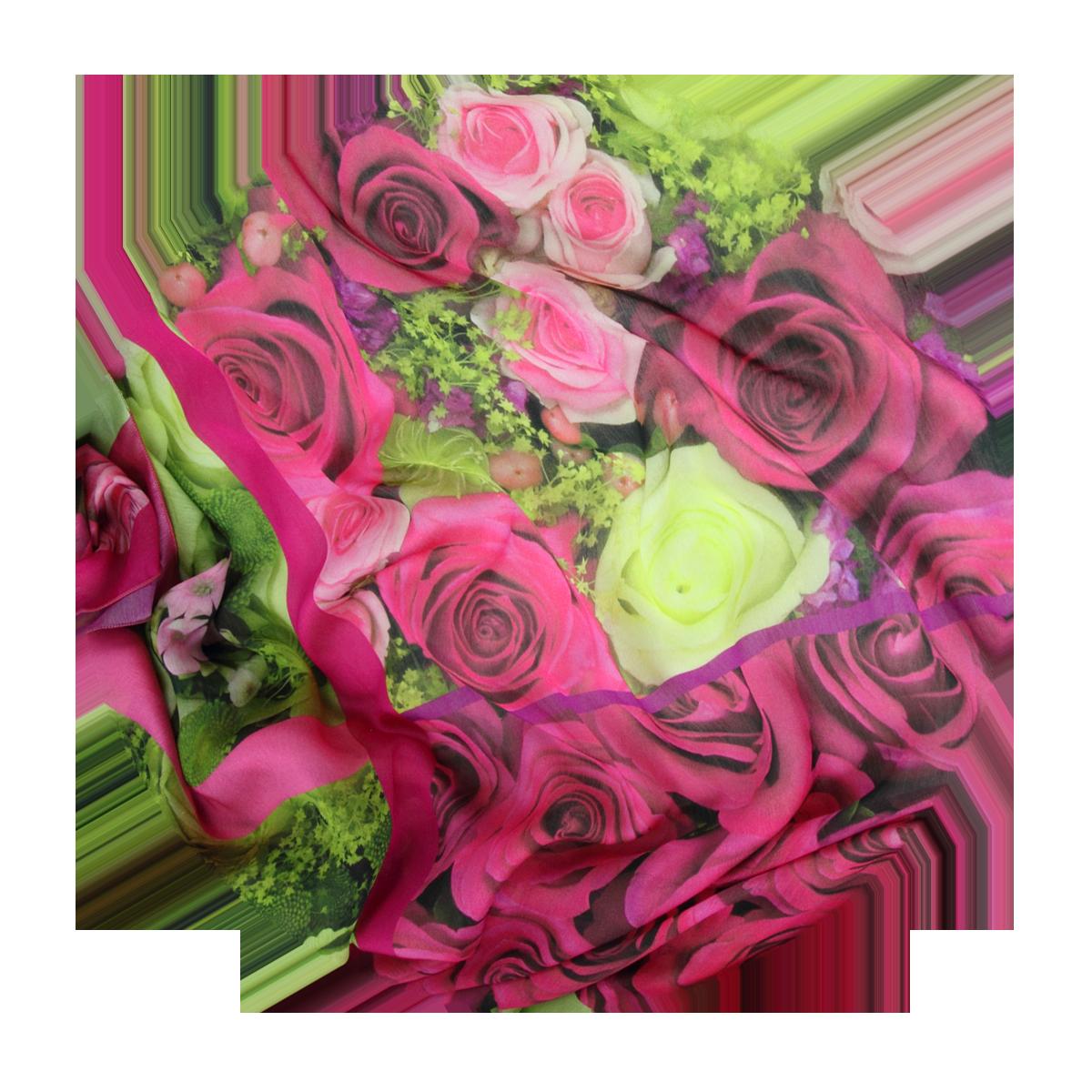 9f53188cb5dd Très grande étole Femme Rose et Rouge en soie et modal - Ultra Douce